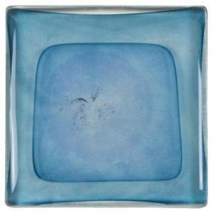 carrelage verre ondes bleu turquoise